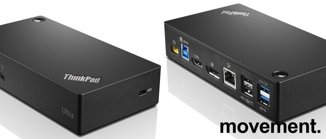 Docking til Lenovo: Thinkpad USB 3.0 Pro Dock Displaylink DK1522 / 40A7, pent brukt bilde 4
