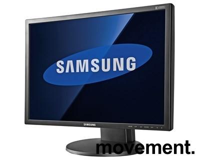 Flatskjerm til PC: Samsung 2443BW, 24 tommer, 1920x1200, VGA/DVI, pent brukt bilde 1