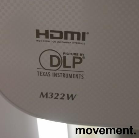 Prosjektor: NEC M322W, 1280x800 WXGA, Widescreen, HDMI, kun 1100timer på pære, pent brukt bilde 3