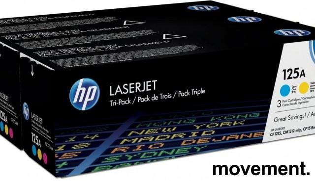 Original HP 125A Rainbow-pack, CF373AM, passer CP1215,CM1312mfp,CP1515n,CP1518n,NY/UBRUKT bilde 1