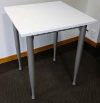 Kinnarps Series One mini-skrivebord / avlastningsbord / sidebord i hvitt, 60x60cm, pent brukt