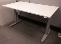 Kinnarps T-serie elektrisk hevsenk skrivebord i hvitt, 140x80cm, pent brukt