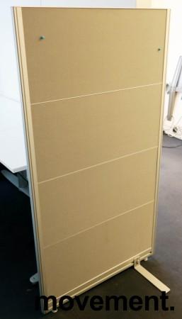 Skillevegg fra Kinnarps, modell Rezon i grått, 80cm bredde, 146cm høyde, pent brukt