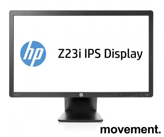 Flatskjerm til PC: Hewlett-Packard Z23i, 23toms, IPS LED Backlit, 1920x1080 FULL HD, DP/DVI/VGA, pent brukt