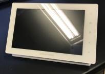 Crestron TSW-750-W-S, kontroller med touch-screen og bordfot i hvitt, pent brukt