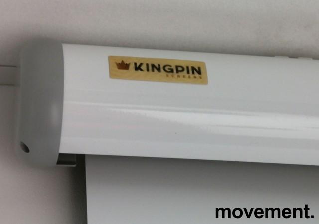 Manuelt nedtrekkslerret fra Kingpin, 215cm bredde med kasse, pent brukt bilde 2