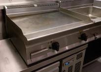 Bertos steketopp / flatgrill / stekeplate, elektrisk, 400V, bredde 80cm, pent brukt