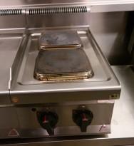 Bertos koketopp for storkjøkken 2 soner, 40 cm bredde, 400V, pent brukt
