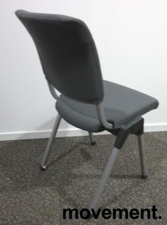 Håg Conventio 9520, stablebar, lettvekts konferansestol i mørk grå / grå ben, pent brukt bilde 2