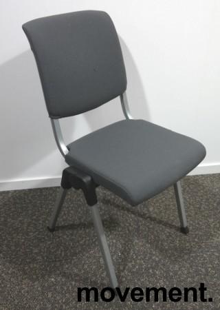 Håg Conventio 9520, stablebar, lettvekts konferansestol i mørk grå / grå ben, pent brukt bilde 1