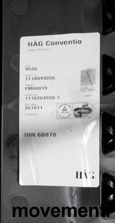 Håg Conventio 9520, stablebar, lettvekts konferansestol i mørk grå / grå ben, pent brukt bilde 3