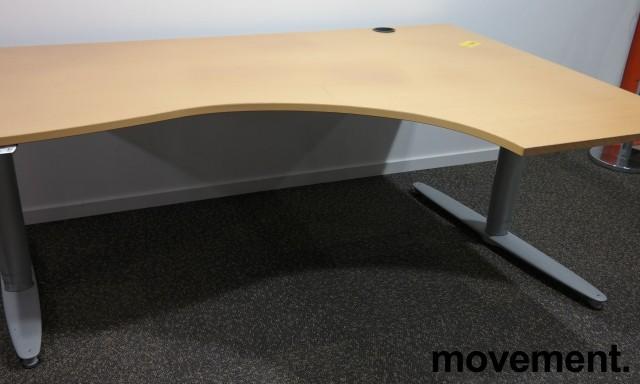 Kinnarps T-serie hevsenk i bøk, 180x120cm, høyreløsning, brukt bilde 2
