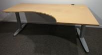 Kinnarps T-serie hevsenk i bøk, 180x120cm, høyreløsning, brukt