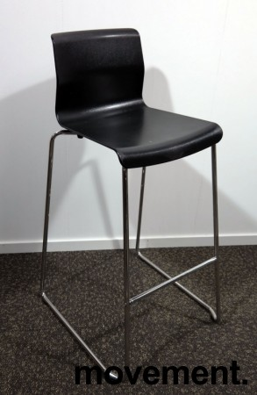IKEA Glenn barkrakk i sort / krom, høyde 74cm, pent brukt bilde 1