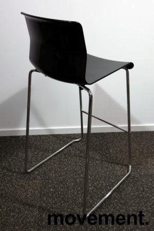 IKEA Glenn barkrakk i sort / krom, høyde 74cm, pent brukt bilde 2