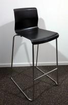 IKEA Glenn barkrakk i sort / krom, høyde 74cm, pent brukt