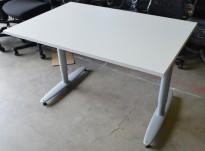 Kinnarps T-serie skrivebord i hvitt, 120x80cm, NY / UBRUKT plate pent brukt