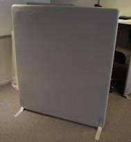 Frittstående skillevegg fra Götessons i grått stoff, 120x145cm, pent brukt