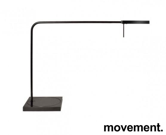 Luxo Ninety i sort med bordfot, LED-belysning til skrivebordet, lekker designlampe, pent brukt bilde 1