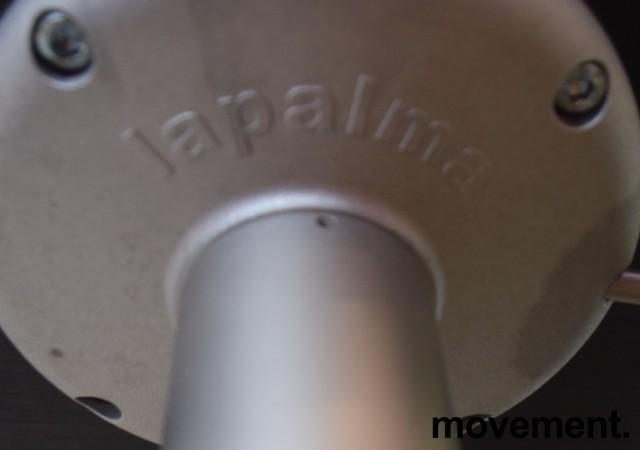 Lekker barkrakk / barstol, LaPalma Miunn S104T i sort finer / satinert stål, gasslift, pent brukt bilde 3