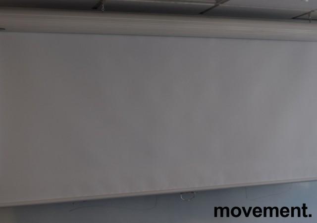 Euroscreen manuelt nedtrekkbart lerret, 180cm bredde + kasse, pent brukt bilde 1