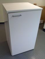 Miljøstasjon / sorteringsstasjon for kontoravfall i hvitt, 65cm bredde, pent brukt