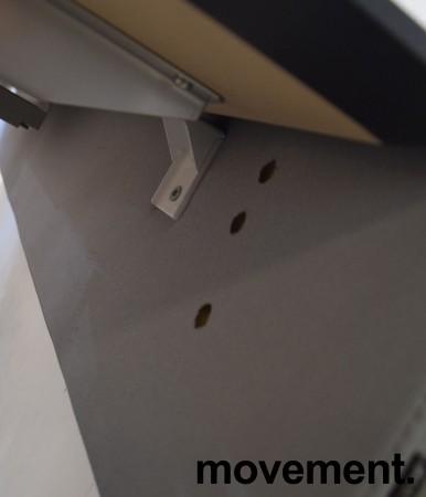 Bordskillevegg i lyst grått stoff fra Götessons, 200x65cm, pent brukt bilde 4