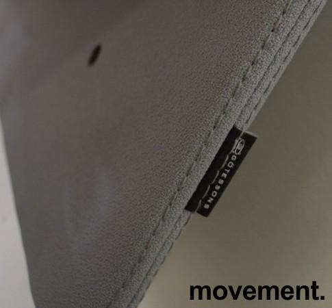 Bordskillevegg i lyst grått stoff fra Götessons, 200x65cm, pent brukt bilde 3