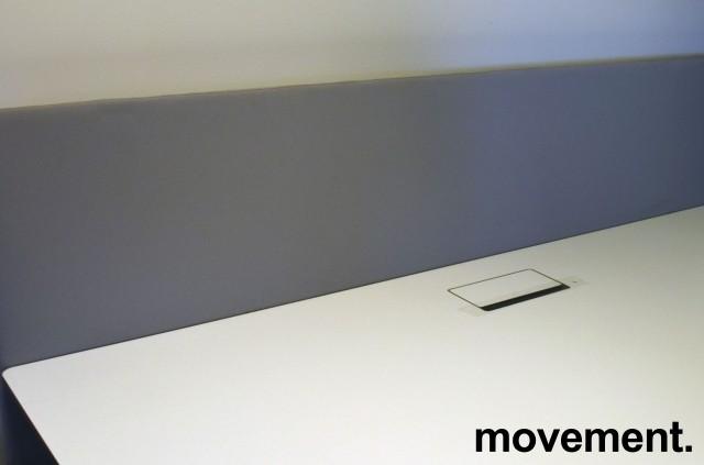 Bordskillevegg i lyst grått stoff fra Götessons, 200x65cm, pent brukt bilde 1