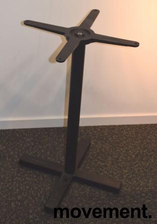 Understell / bordben i sortlakkert stål fra Pedrali, høyde 73cm, pent brukt bilde 1