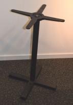 Understell / bordben i sortlakkert stål fra Pedrali, høyde 73cm, pent brukt