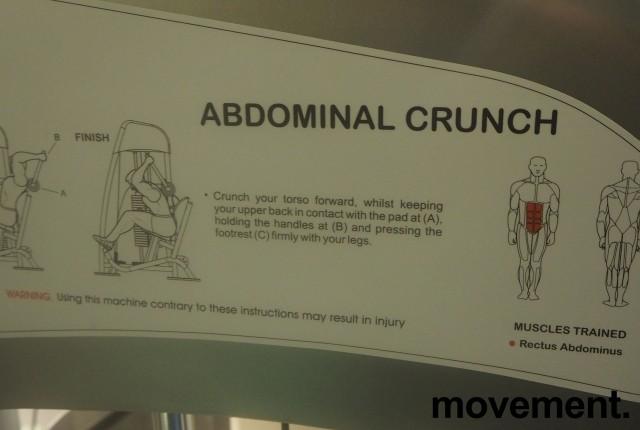 Abdominal Crunch-maskin fra Vertex USA / Sportsmaster, pent brukt bilde 2
