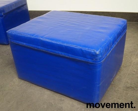 Tress skumpute / skummodul i blått, 50x40x30cm, pent brukt bilde 1