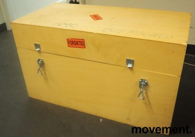 Transportkasse trekasse i finer, 90x45x52, pent brukt bilde 1