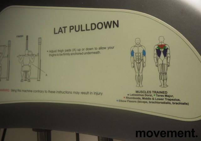 Lat pull down / nedtrekk-maskin fra Vertex USA / Sportsmaster, pent brukt bilde 2