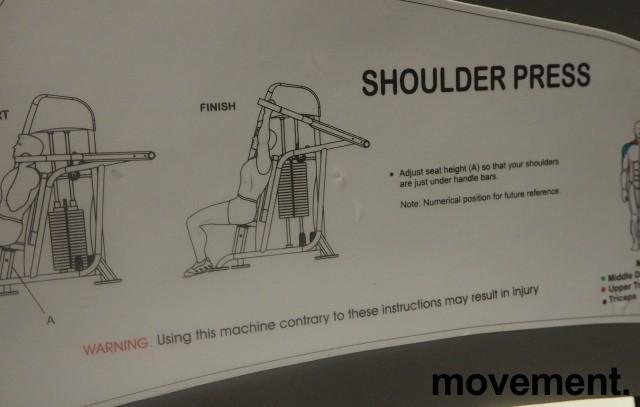 Shoulder press / skulderpress-maskin fra Vertex USA / Sportsmaster, pent brukt bilde 3