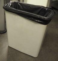 Søppelspann / søppelbøtte i grått, 60L, pent brukt