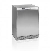 Underbenk fryser / fryseskap i rustfritt stål fra Tefcold, modell UF200S-I, 60cm bredde, 85,5cm høyde, pent brukt