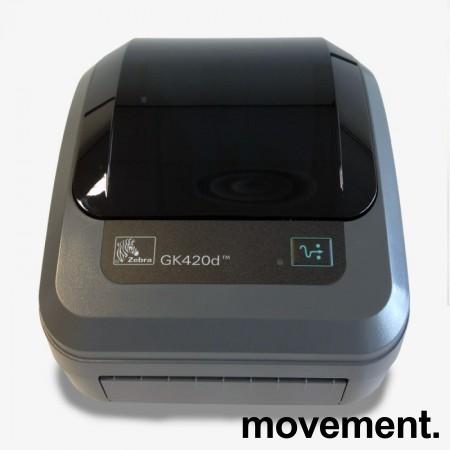 Zebra etikettskriver GK420d med USB, pent brukt 2016-modell bilde 1