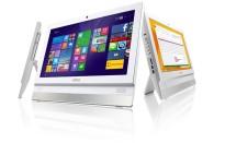 MSI Alt-i-ett PC i hvitt med innebygget skjerm: Adora 20, Intel J1900 / 4GB / 500GB, Win10, pent brukt