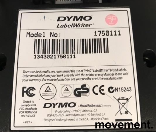 Dymo etikettskriver USB, LabelWriter 450 USB, pent brukt bilde 3
