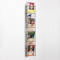 Vegghengt brosjyrehylle 7lommer fra Peter Boy Design, pent brukt