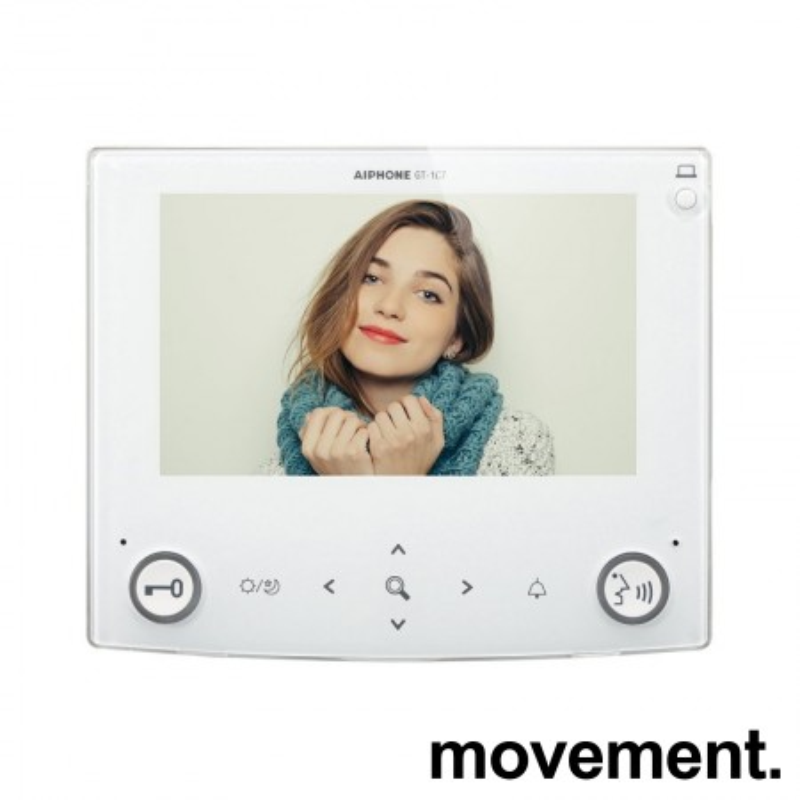 Svarapparat med fargeskjerm til porttelefon: Aiphone GT-1C7-L, pent brukt bilde 5