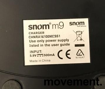 Snom m9 trådløst IP-apparat med lader og basestasjon (gateway), pent brukt bilde 3