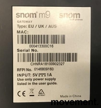 Snom m9 trådløst IP-apparat med lader og basestasjon (gateway), pent brukt bilde 2