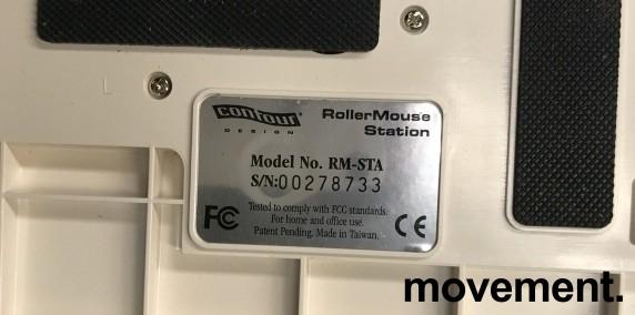 RollerMouse USB, ergonomisk rullemus for musearm i hvit farge, pent brukt bilde 3