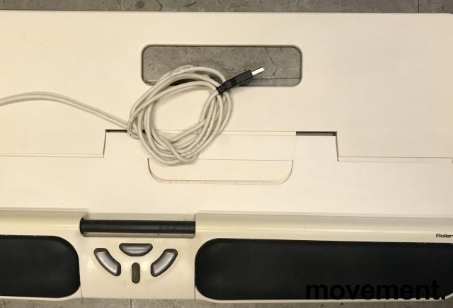 RollerMouse USB, ergonomisk rullemus for musearm i hvit farge, pent brukt bilde 1