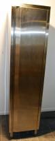 Skap i rustfritt stål (stålskap) for kjøkken el.l., 49cm bredde, 199,5cm høyde, pent brukt