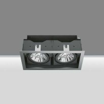 Downlights / designlampe for innfelling med 2 stk LED-spots, totalt 12W, modell 2698 fra Iguzzini, pent brukte