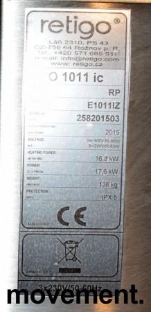 Retigo Vision kombidamper, 10geiders modell, 3fas 230volt, pent brukt 2015-modell bilde 5